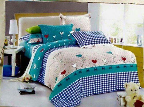 In drap giường, gối
