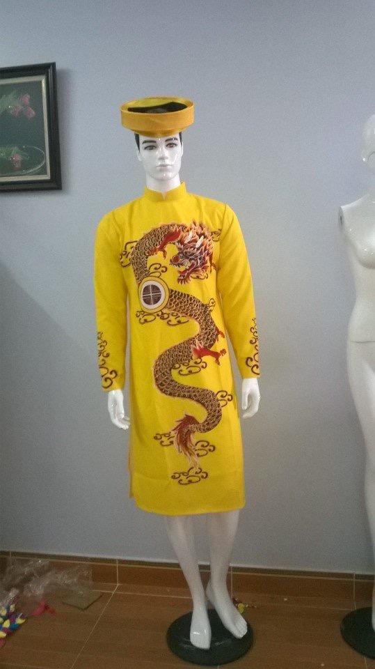 In hoa văn trên áo dài